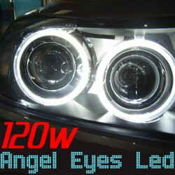 Pack Angel Eyes Led H8 120w Blanc Xenon BMW E60 E63 E64 E70 E71 E82 E94 E87 E90 E91 E92 E93