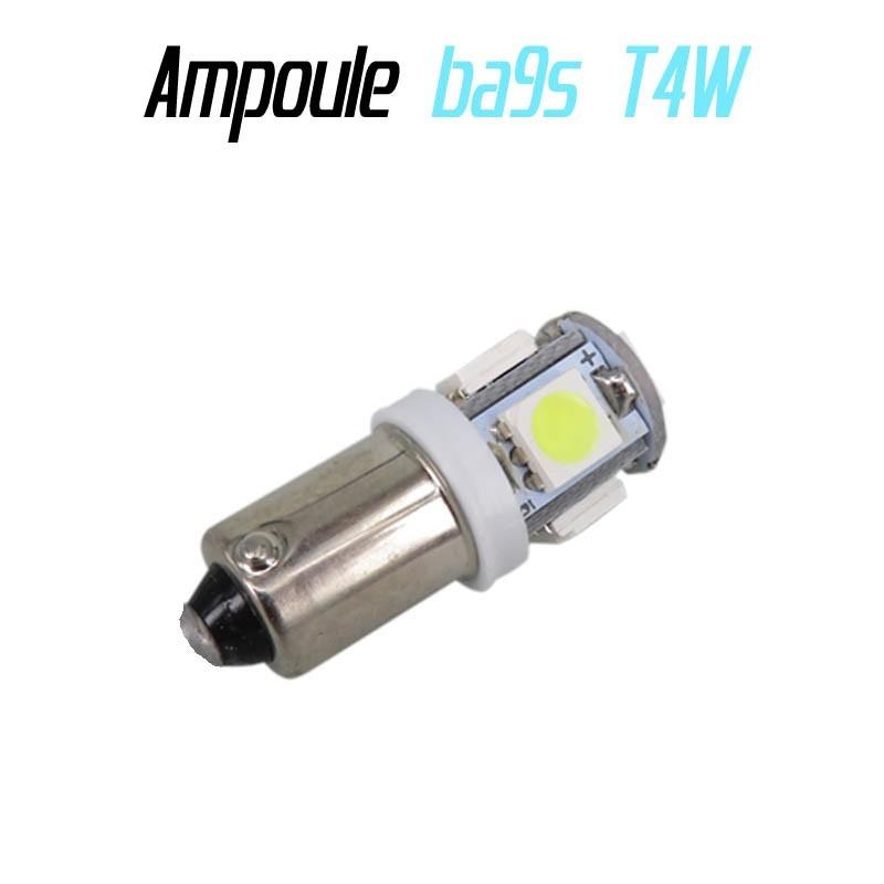LED T4W Ba9s - (5SMD-5050-3D) - Blanc