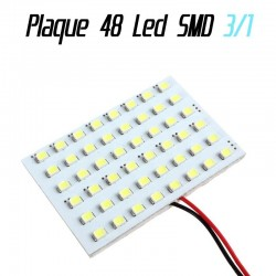 Pack 3 en 1 - Navette - ba9s - w5w - Plaque 48 led