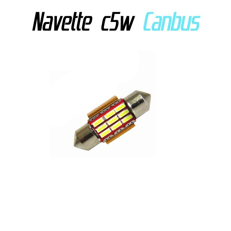 Ampoule navette Led 9 SMD 3014 anti erreur ODB