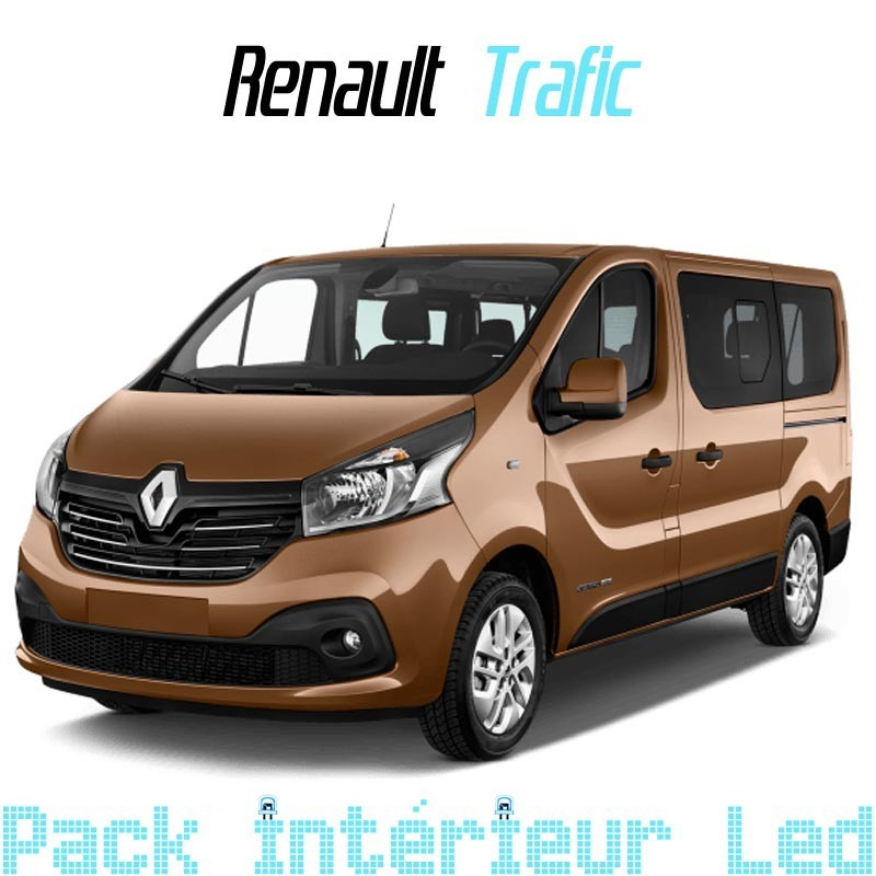 Pack int rieur led pour renault trafic 3 led auto discount for Renault trafic interieur