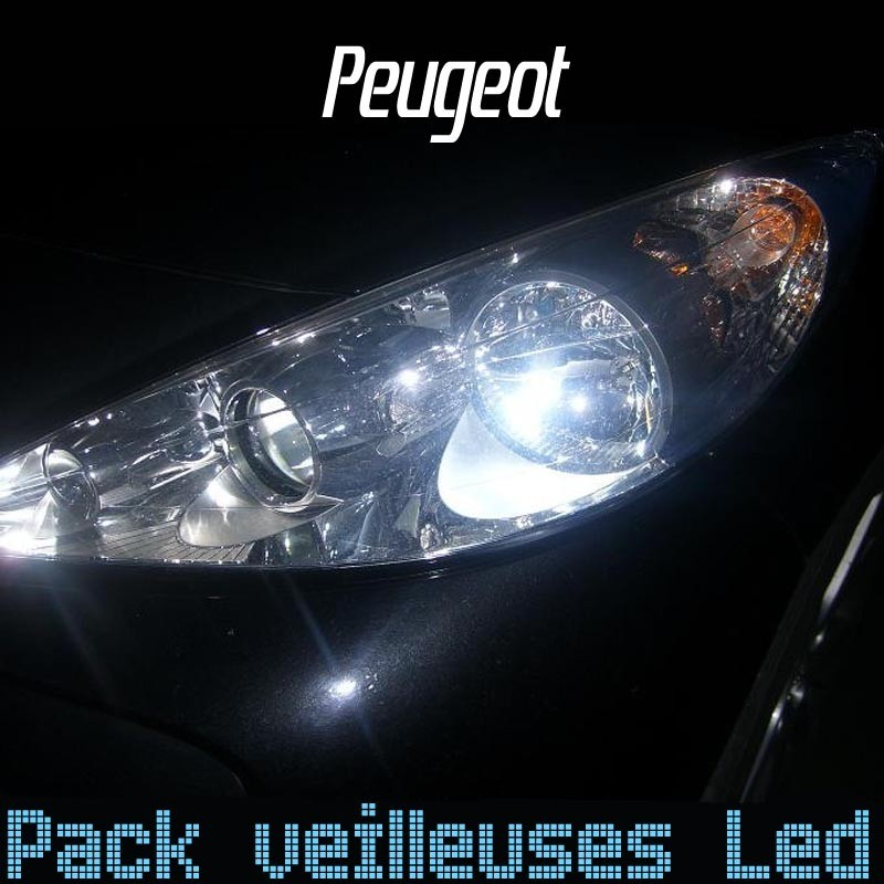 pack ampoules veilleuses led pour peugeot led auto discount. Black Bedroom Furniture Sets. Home Design Ideas