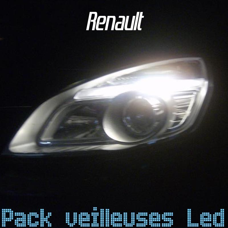 pack ampoules veilleuses led pour renault led auto discount. Black Bedroom Furniture Sets. Home Design Ideas