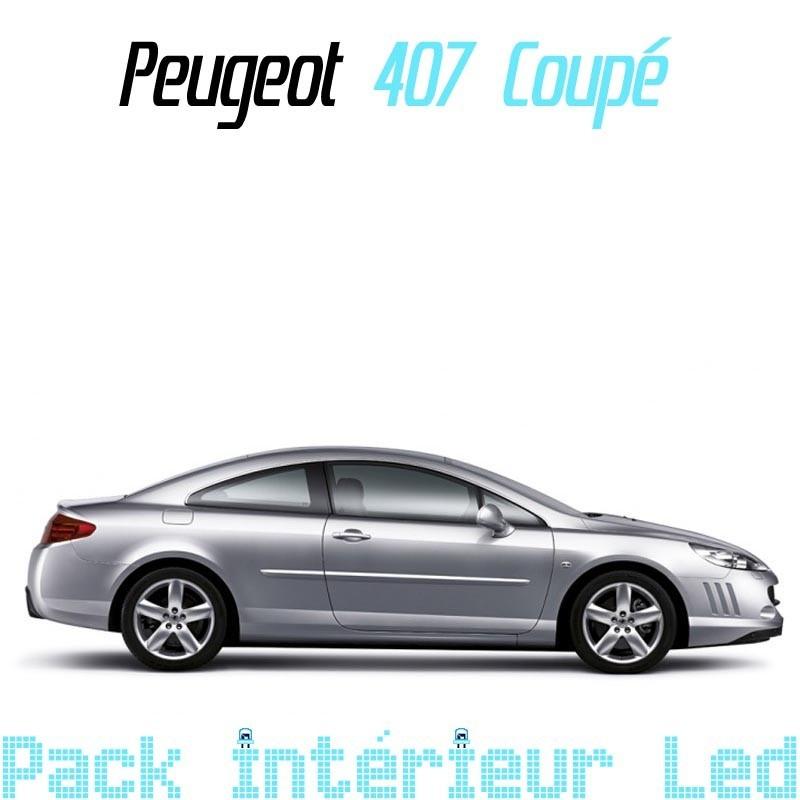 Pack int rieur led pour peugeot 407 coup led auto discount for Interieur 407 coupe