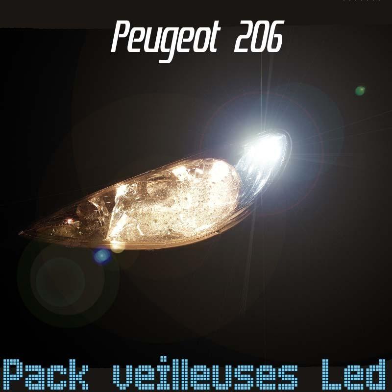 Pack veilleuses led pour Peugeot 206
