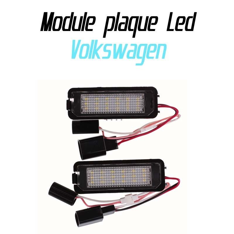 Pack Module de plaque LED pour Volkswagen CC EOS PASSAT POLO PHAETON GOLF 4 5 6 7