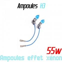Pack de 2 ampoules H3 effet xénon 6000k