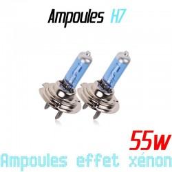 Pack de 2 ampoules H7 effet xénon 6000k