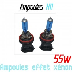 Pack de 2 ampoules H11 effet xénon 6000k