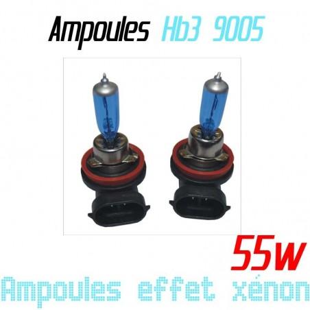 Pack de 2 ampoules HB3 effet xénon 6000k