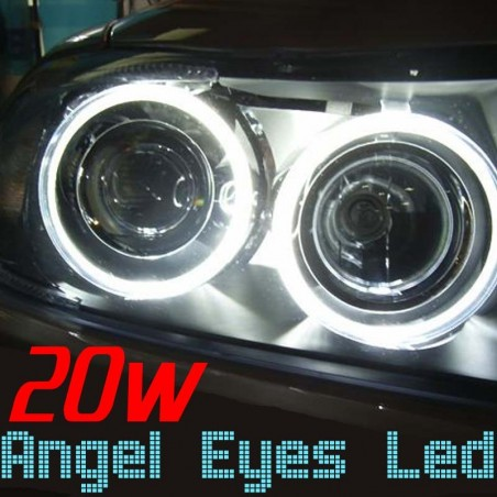 Pack Angel Eyes Led 20w BMW E90 E91 Phase 2 LCI (sans xénon)