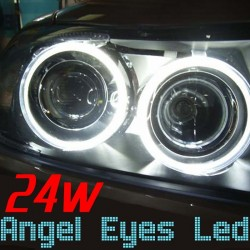 Pack Angel Eyes Led 24w Blanc Xenon BMW E90 E91 Phase 1