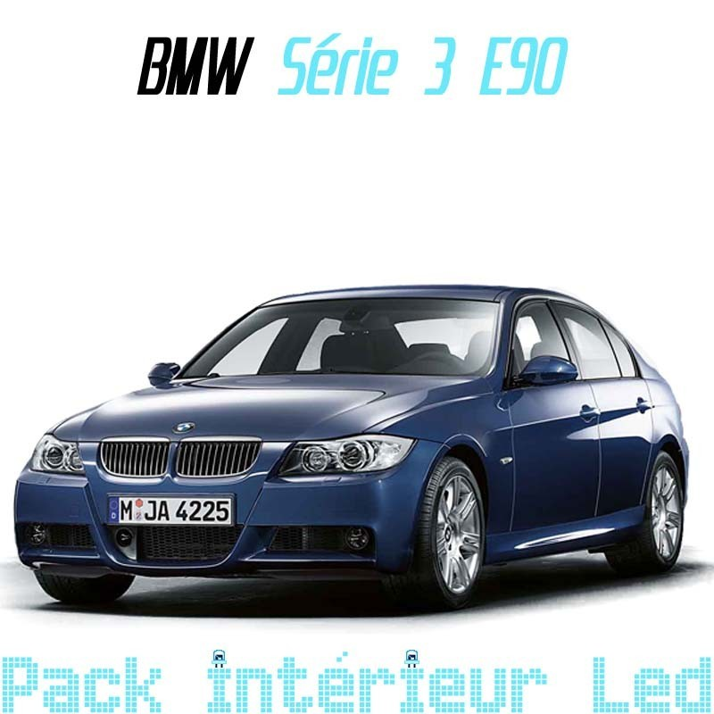 Pack int rieur led pour bmw s rie 3 e90 led auto discount for Bmw serie 3 interieur