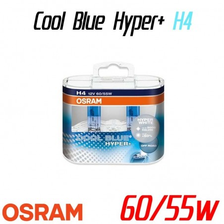 Pack duo H4 OSRAM Cool Blue Hyper+