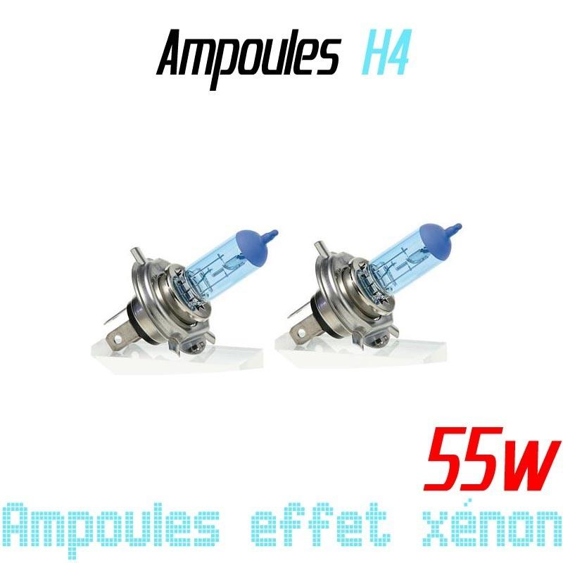 Pack de 2 ampoules H4 effet xénon 6000k