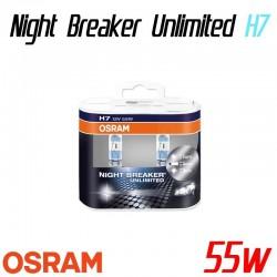 Pack duo H7 OSRAM Night Breaker Unlimited