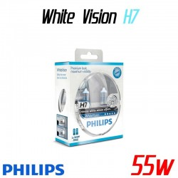 Pack duo H7 Philips WhiteVision + 2 W5W WhiteVision