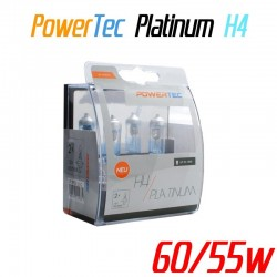 Pack duo PowerTec Platinum H4 12V 60/55W +130%