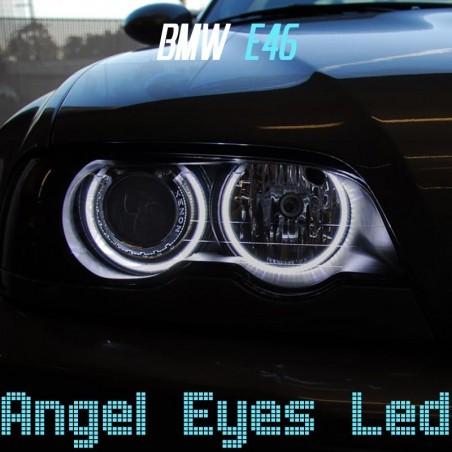 Pack Angel Eyes CCFL pour BMW E46 avec lentille
