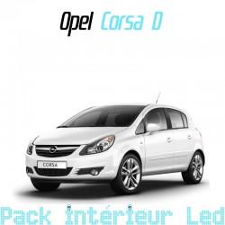 Pack intérieur led pour Opel Corsa D