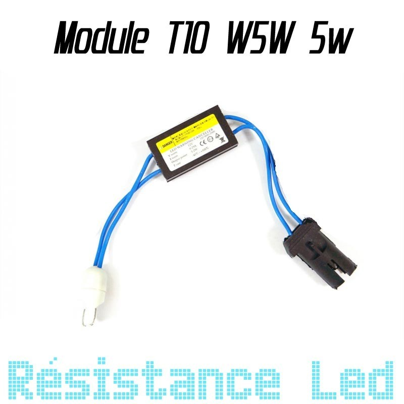Support ampoule T10 W5W + résistance 5w anti erreur ODB
