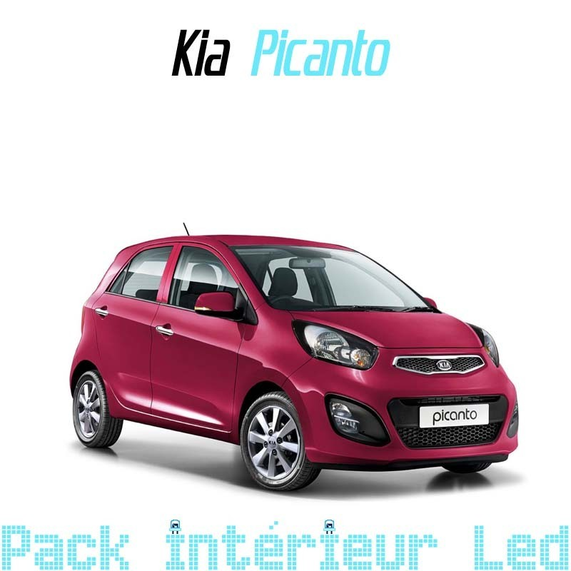 pack int rieur led pour kia picanto 2 led auto discount. Black Bedroom Furniture Sets. Home Design Ideas