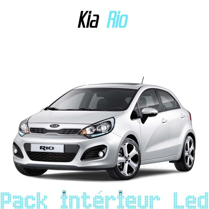 pack int rieur led pour kia rio 3 led auto discount. Black Bedroom Furniture Sets. Home Design Ideas