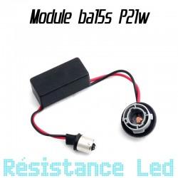 Support ampoule ba15s P21w + résistance anti erreur ODB