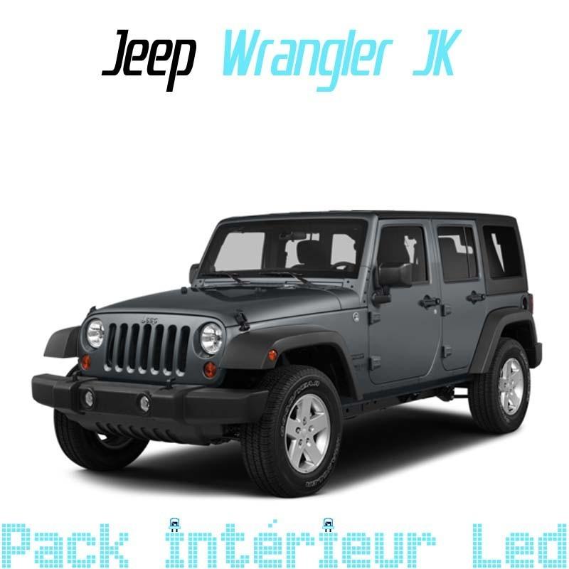 Pack Full Led interieur extérieur Jeep Wrangler JK