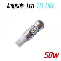 Ampoule Led T10 W5W - 50W (CREE XBD 10SMD)
