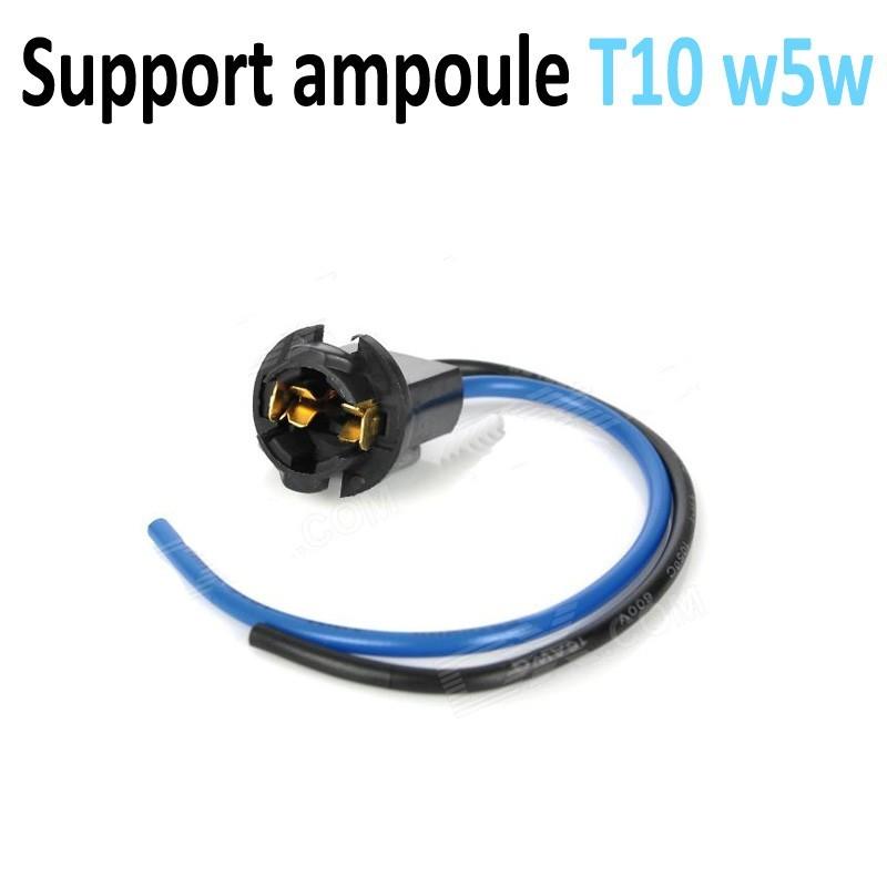 Support socket douille ampoule w5w T10 cablé