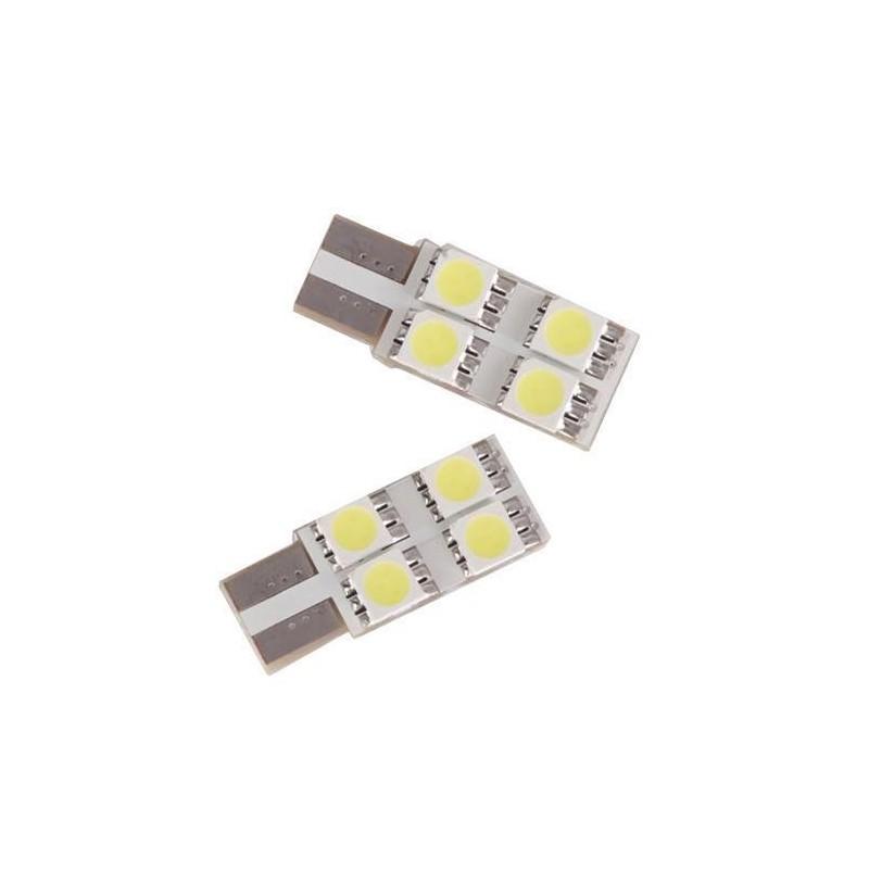 LED T10 W5W - (4SMD-FACE) - Anti Erreur ODB - Blanc