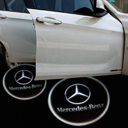 Modules éclairage bas de portes logo led pour MERCEDES