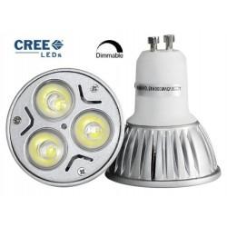Ampoule LEDs Cree® 9W GU10 Blanc chaud - 220V