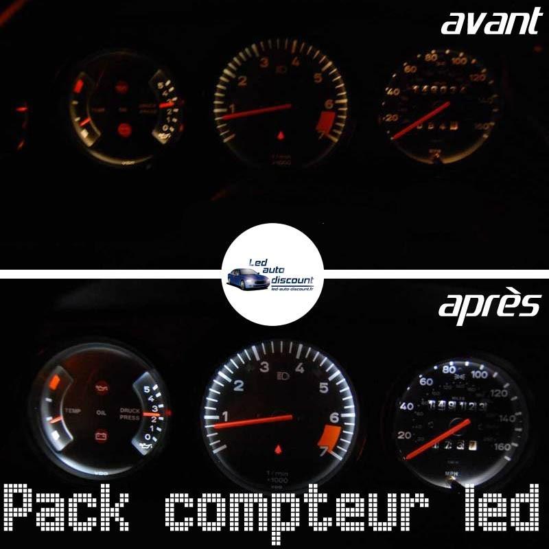 Pack de 10 ampoules led compteur Porsche Type G