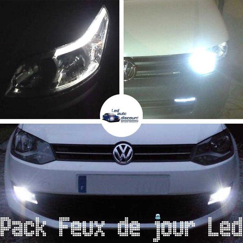 Pack feux de jour led pour Volkswagen Polo 6r