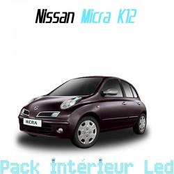 Pack intérieur led pour Nissan Micra K12