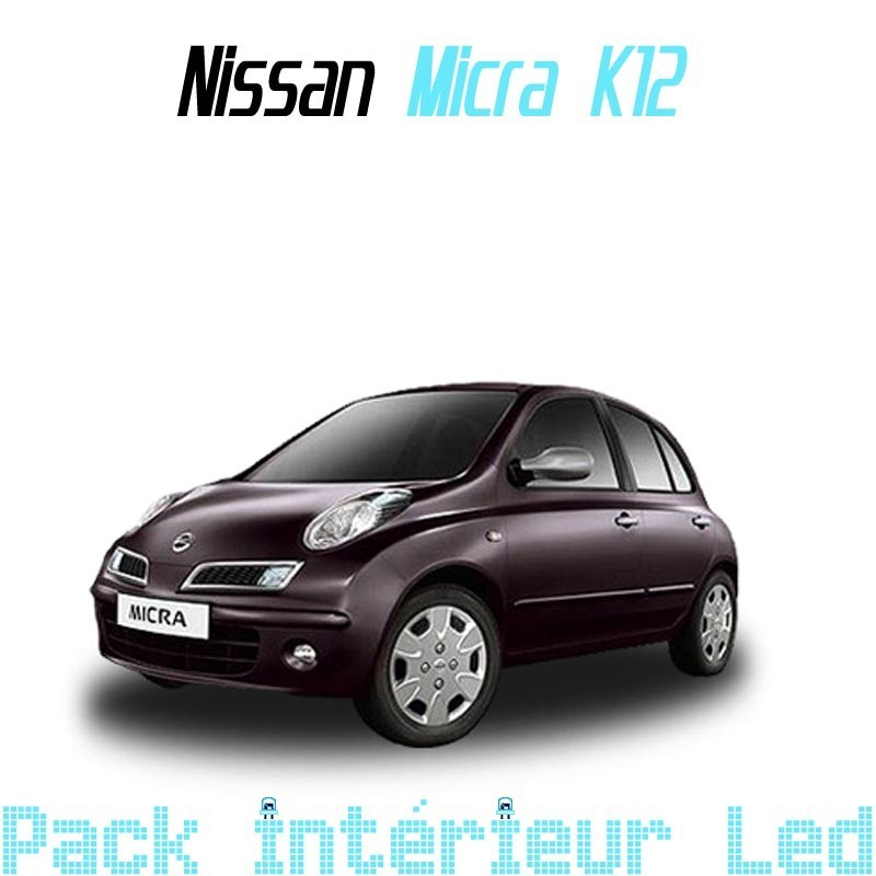 pack int rieur led pour nissan micra k12 led auto discount. Black Bedroom Furniture Sets. Home Design Ideas