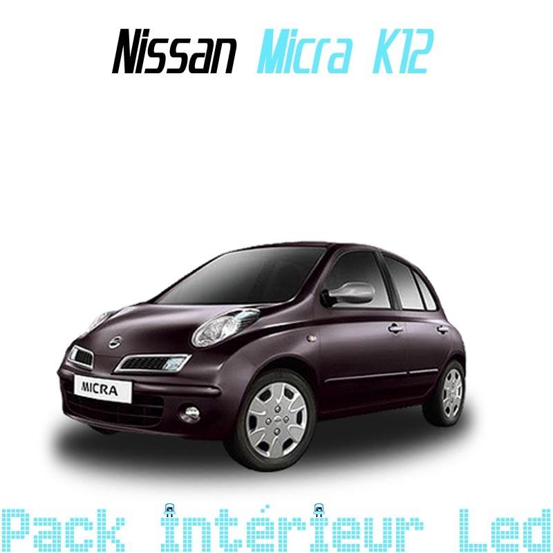 Pack intérieur led pour Nissan Micra K12 - Led Auto Discount