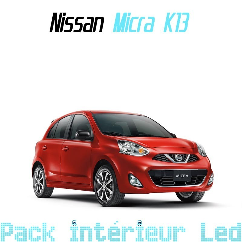 pack int rieur led pour nissan micra k13 led auto discount. Black Bedroom Furniture Sets. Home Design Ideas