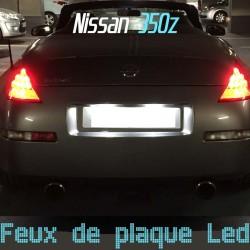 Pack éclairage de plaque led pour Nissan 350z