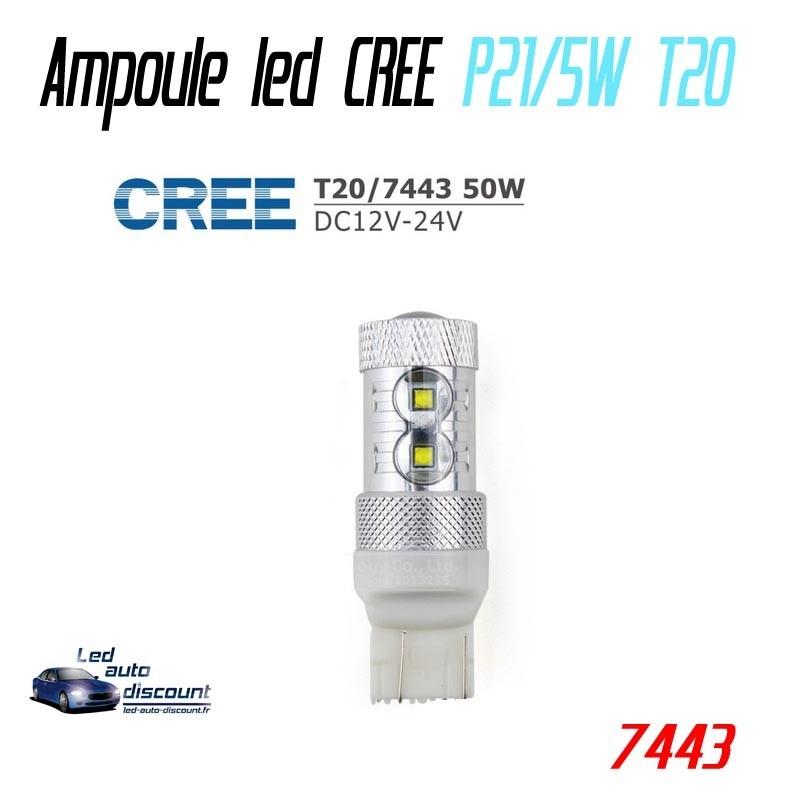 Ampoule led W21/5W T20-7443 - CREE 50w