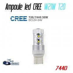Ampoule led W21W T20-7440 - CREE 50w