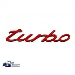 """Logo """"TURBO"""" rouge emblème pour Porsche"""