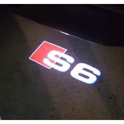 Module éclairage bas de portes logo led S6 pour Audi A6 C6