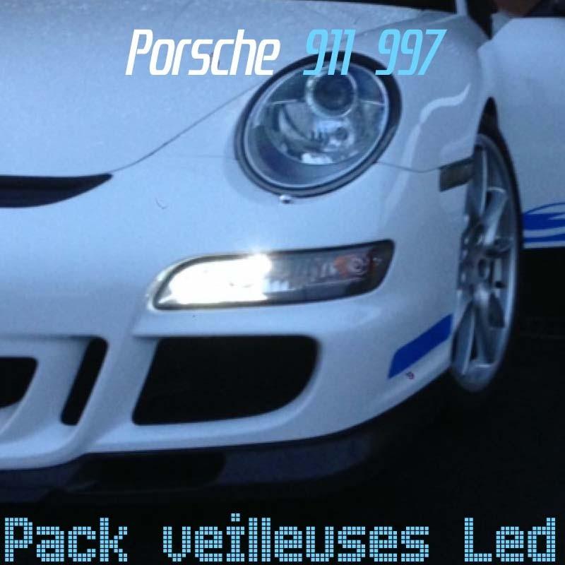 Pack ampoules veilleuses led pour Porsche 911 997
