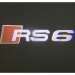 Module éclairage bas de portes logo led RS6 pour Audi A6 C6
