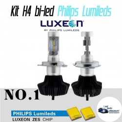 Pack ampoules bi-led H4 80w Philips Lumileds 6000k