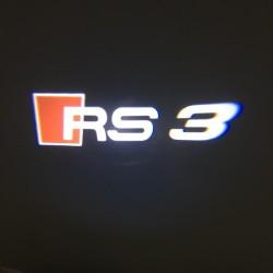 Module éclairage bas de portes logo led RS3 pour Audi A3
