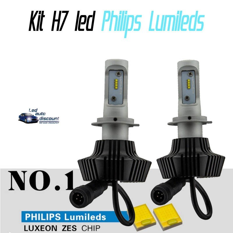 pack ampoules led h7 philips lumileds 6000k led auto discount. Black Bedroom Furniture Sets. Home Design Ideas